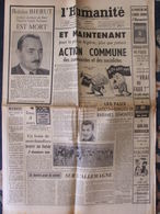 L'Humanité (14 Mars 1956) Action Commune Paix En Algérie - Paris-Nice - Procès Fuites - Sophia Loren - 1950 - Nu