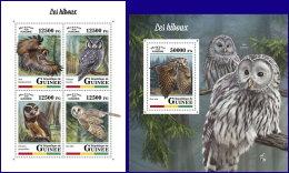GUINEA REP. 2018 MNH** Owls Eulen Hiboux M/S+S/S - OFFICIAL ISSUE - DH1809 - Uilen