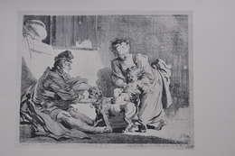 GRAVURE 635 / L'ENFANT ET LE BOULEDOGUE  D'après FRAGONARD Par MARGUERITE GERARD Né à GRASSE En 1761 - Stiche & Gravuren