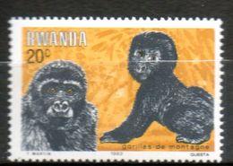 RWANDA   Gorilles 1983 N° 1117 - Rwanda