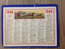 Calendrier 1946 Imp Oller Puteaux 450 - Calendars