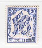 MiNr.13 X (Falz) Deutschland Deutsches Reich, Dienstmarken - Dienstpost