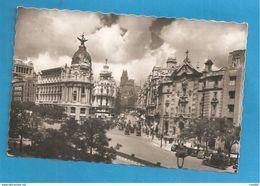 MADRID  CARS AUTO CARTOLINA FORMATO PICCOLO VIAGGIATA - Madrid