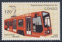 Congo Brazzaville 1991 Mi 1215 ** Suburban S-350 Electric Railcar, Italy / Schienentriebfahrzeug, Italien - Treni