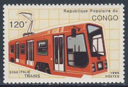 Congo Brazzaville 1991 Mi 1215 ** Suburban S-350 Electric Railcar, Italy / Schienentriebfahrzeug, Italien - Treinen