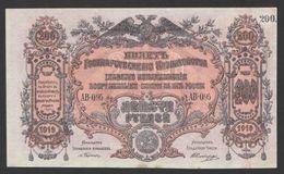 South RUSSIA 200 Rubles 1919 АБ -095 Serie AUNC - Russia