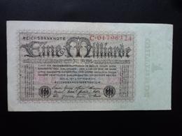 ALLEMAGNE : 1 MILLIARDE MARK  5.9.1923    P 114   TTB - [ 3] 1918-1933 : Repubblica  Di Weimar