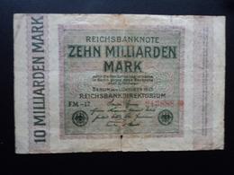 ALLEMAGNE : 10 MILLIARDEN MARK  1.10.1923    P 117a   B+ - [ 3] 1918-1933 : Weimar Republic