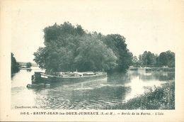 CPA St-Jean-les-Deux-Jumeaux Bords De La Marne - L'Isle - Péniche - Frankrijk