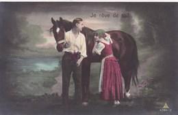 Je Rêve De Toi! Couple Avec Cheval, Horse, Paard (pk43601) - Couples