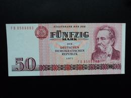 ALLEMAGNE : R.D.A. : 50 MARK  1971 (1986)  P 30b   NEUF - [ 6] 1949-1990: DDR - Duitse Dem. Rep.