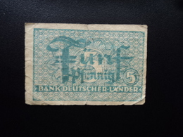 ALLEMAGNE : R.F.A. : 5 PFENNIG  ND 1948  P 11a    B+ - [ 7] 1949-… : RFD - Rep. Fed. Duitsland