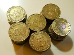 Lot 61 Coins 10 Pfennig Germany - Monete & Banconote