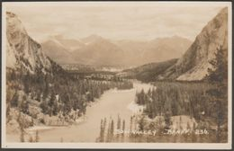 Bow Valley, Banff, Alberta, C.1920s - Byron Harmon RPPC - Banff