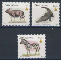 MDA-BK1-044-2 MDS MINT ¤ ZIMBABWE 2000 3w UIT Serie ¤ WILD ANIMALS OF THE WORLD - MAMMALS AND OTHER - Wild