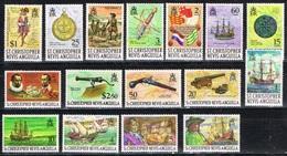 DO 6054 ST KITTS & NEVIS  XX  YVERT NRS 220/235 ZIE SCAN - St.Kitts-et-Nevis ( 1983-...)