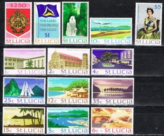 DO 6056 ST LUCIA  XX  YVERT NRS 259/272 ZIE SCAN - St.Lucie (1979-...)