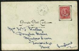 RB 1200 -  1905 Postcard - Virden Canada To Tonbridge Kent - Scarce Hargrave Manitoba Postmark - 1903-1908 Reign Of Edward VII
