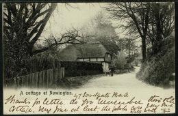 "RB 1200 -  1903 Peacock Postcard - ""A Cottage"" Newington Village Near Folkestone Kent - Folkestone"