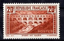 France YT N° 262 Pont Du Gard Neuf *. Gomme D'origine. B/TB. A Saisir! - Ungebraucht