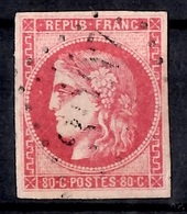 France Bordeaux YT N° 49 Oblitéré. Belles Marges Intactes. Beau Timbre Sans Défaut. A Saisir! - 1870 Bordeaux Printing