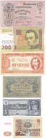 Ukraine Propaganda - Set 6 Banknotes 3 5 15 25 100 200 Karbovanets 2016 UNC Ukr-OP - Ukraine