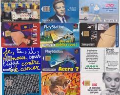 LOT DE 12 TELECARTES - Phonecards