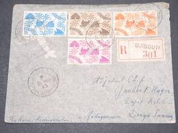 COTE DES SOMALIS - Enveloppe En Recommandé De Djibouti Pour Diégo Suarez En 1945 , Affranchissement Plaisant - L 14528 - Côte Française Des Somalis (1894-1967)