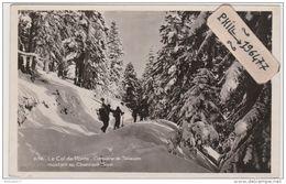 38 Le Col De Porte - Cpa / Caravane De Skieurs. Circulé. - Ohne Zuordnung
