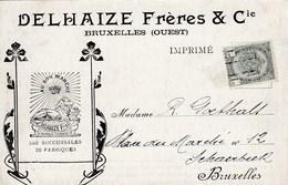 HOUFFALIZE /  CARTE DE PUBLICITE DELHAIZE FRERES - Houffalize