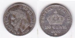 20 CENTIMES - NAPOLEON III 1866 BB  (voir Scan) - E. 20 Centesimi