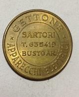TOKEN JETON GETTONE SARTORI BUSTO ARSIZIO APPARECCHI ELETTRICI - Monetary/Of Necessity