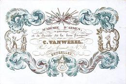 Porseleinkaart  Carte Porcelaine    ARMES WAPES ARMS  BOXE    Bruxelles   VANWEZEL   18 X 12.3 CM - Non Classificati