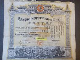 1 Banque Industrielle De   CHINE   + Coupons - Aandelen