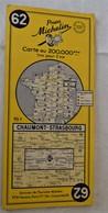 Carte Pneu MICHELIN 62 - Chaumont Strasbourg - Colmar Epinal Gérardmer Vittel Lunéville - Roadmaps