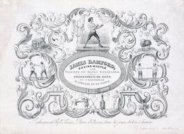 Porseleinkaart  Carte Porcelaine   Boks Boxe  James Bamford   17 X 12.5 Cm - Pugilato