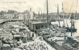 Cuba -On The Docks Of Havana - Postcards
