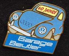 VOITURE - CAR -  VW - GARAGE BEUTLER - 60 JAHRE - COCCINELLE BLEUE - AUDI  -            (ROSE) - Volkswagen