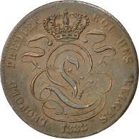 Monnaie, Belgique, Leopold I, 5 Centimes, 1833, TTB+, Cuivre, KM:5.2 - 1831-1865: Léopold I