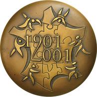 France, Medal, Ville De Dourdan, 2001, SUP+, Bronze - France