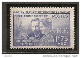 1938 - N° 172*MH - Pierre Et Marie Curie - Neufs