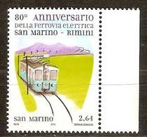 Saint-Marin San Marino  2012 Yvertn° 2333 *** MNH Cote 7,90 Euro  Chemin De Fer Train Treinen - Saint-Marin