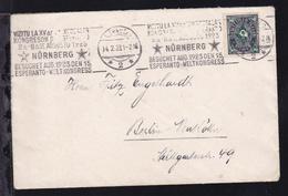 Posthorn 50 M. Auf Brief Ab Nürnberg 14.2.23 (Maschinenstempel Esperanto- - Non Classés