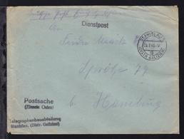 Dienstbrief (Postsache Einsatz Osten) Der Telegraphenbauabteilung Stanislau - Occupation 1938-45