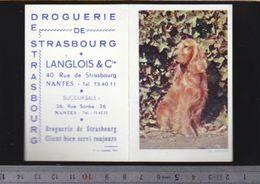 Calendrier - Petit Format - 1962 - Toréfacteur - Chien Cocker - Droguerie De Strasbourg à Nantes - Calendriers