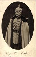 Cp Kaiser Wilhelm II Als Feldherr, Pickelhaube, Orden, Mantel - Familles Royales