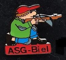 ARBALETE - ASG BIEL - BIENNE - TIREUR A GENOUX - SUISSE - SCHWEIZ - SWISS -           (ROSE) - Archery