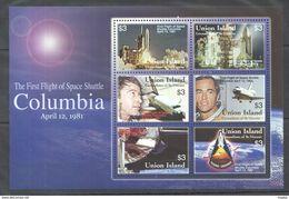 R83 UNION ISLAND ST. VINCENT SPACE FIRST FLIGHT SHUTTLE COLUMBIA VENUS 1KB MNH - Space