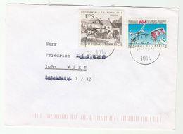 2001 AUSTRIA COVER  Stamps UPU GLIDING PARACHUTING  PARASKI Aviation Parachute Sport Glider - Parachutting