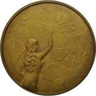 Belgique, Medal, Art Déco, La Presse Bruxelloise à P.Demeur, Avocat, 1946, Van - Other